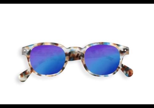 Izipizi Izipizi zonnebril #C blue tortoise soft blue mirror lenses