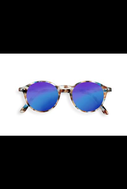 Izipizi zonnebril junior #D blue tortoise blue mirror lenses