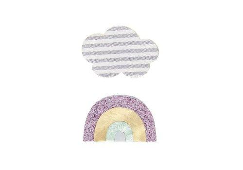 Mimi & Lula Mimi & lula haarclip regenboog wolk