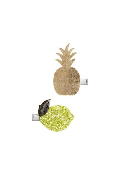 Mimi & lula haarclips ananas gold