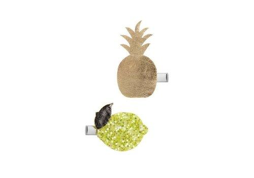 Mimi & Lula Mimi & lula haarclips ananas gold