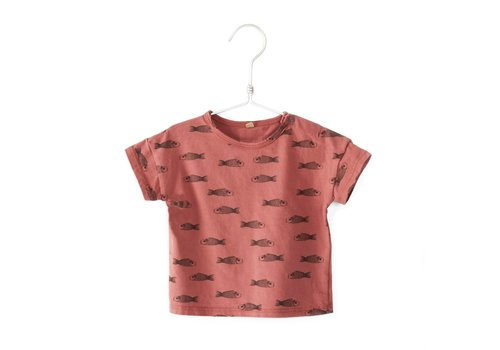 Lötie kids lötie kids baby t-shirt vissen rood