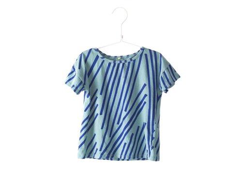 Lötie kids Lötie kids t-shirt stripes turquoise