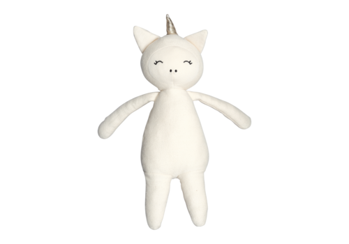 Fabelab Fabelab knuffel buddy unicorn naturel