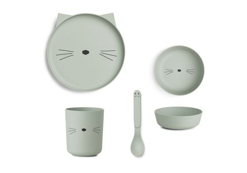 Liewood Liewood bamboo baby set cat dusty mint