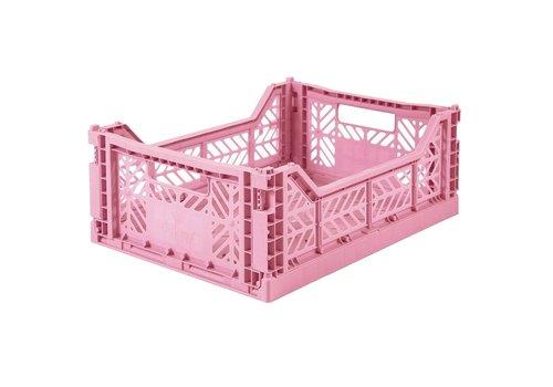 Ay-Kasa folding crate baby pink