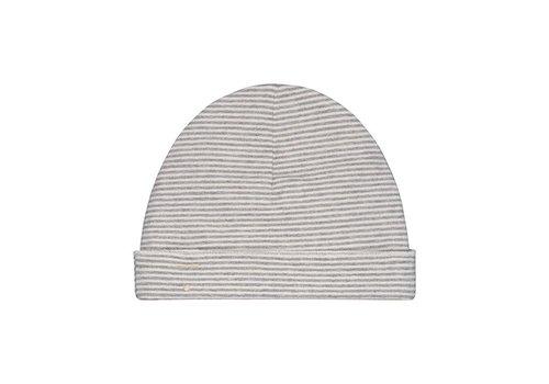 Gray label Gray Label baby beanie streep grijs - cream
