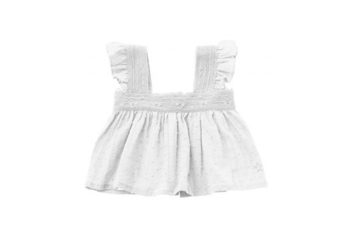 Tocoto vintage Tocoto vintage baby top lace plumeti off white