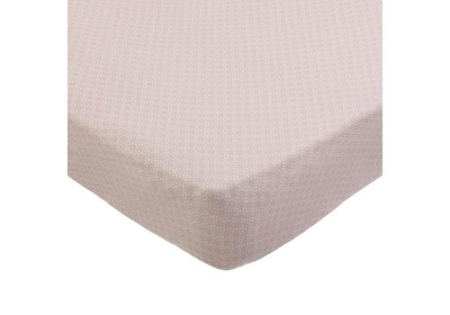 Mies & Co Mies & Co Wieg hoeslaken pretty pearls chalk pink