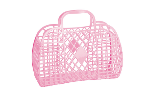 Sunjellies Sunjellies retro basket large bubblegum