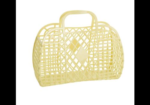 Sunjellies Sunjellies retro basket small yellow
