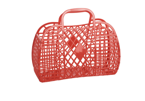 Sunjellies Sunjellies retro basket small red