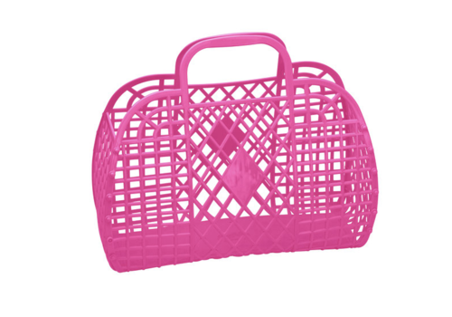 Sunjellies Sunjellies retro basket small hot pink