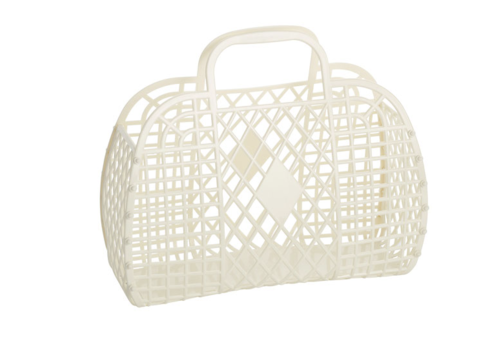Sunjellies Sunjellies retro basket small cream