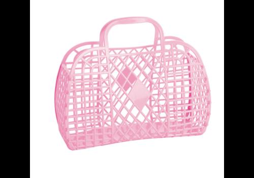 Sunjellies Sunjellies retro basket small bubblegum pink
