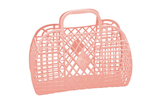 Sunjellies Sunjellies retro basket large peach