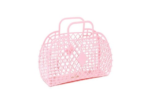 Sunjellies Sunjellies retro basket small light pink