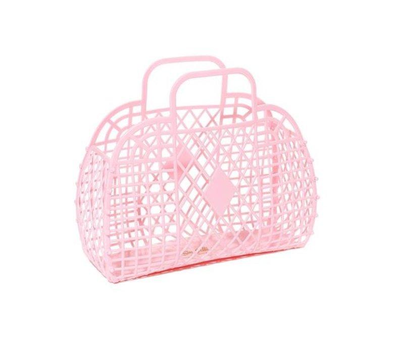 Sunjellies retro basket small light pink