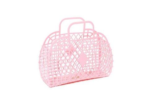 Sunjellies Sunjellies retro basket large light pink