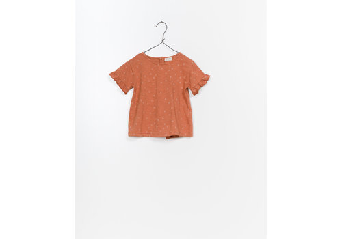 Play Up Play up t-shirt rust ruffle