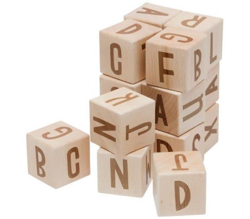 Sebra houten blokken letters
