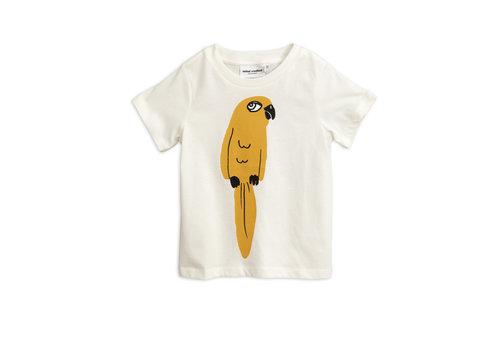 Mini Rodini Mini Rodini t-shirt parrot wit