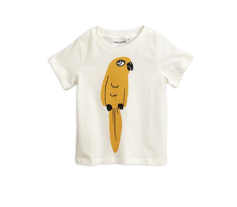 Mini Rodini t-shirt parrot wit