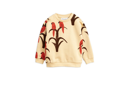 Mini Rodini Mini Rodini sweater parrot red