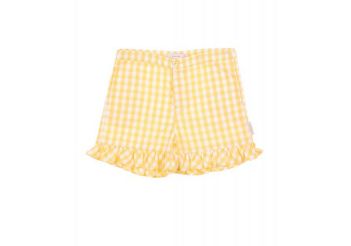 Tiny Cottons Tiny Cottons short check off white-canary
