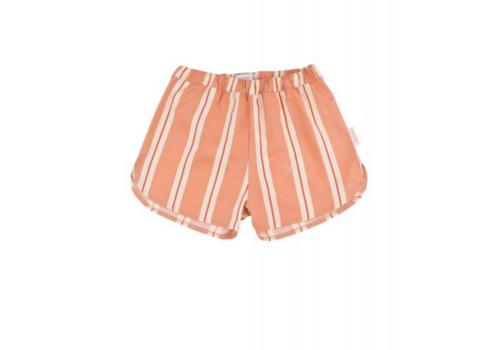 Tiny Cottons Tiny Cottons short retro stripes terracotta-cream