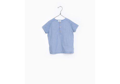 Play Up Play up t-shirt buttons light blue