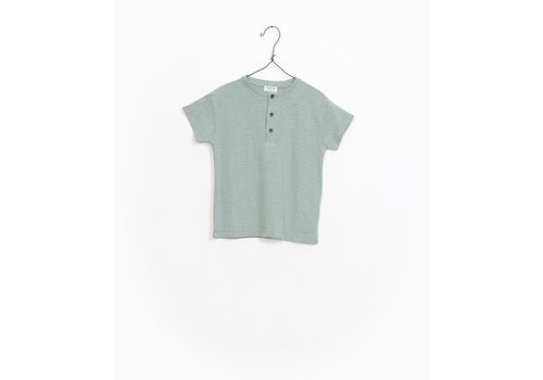 Play Up Play up t-shirt buttons groen streep