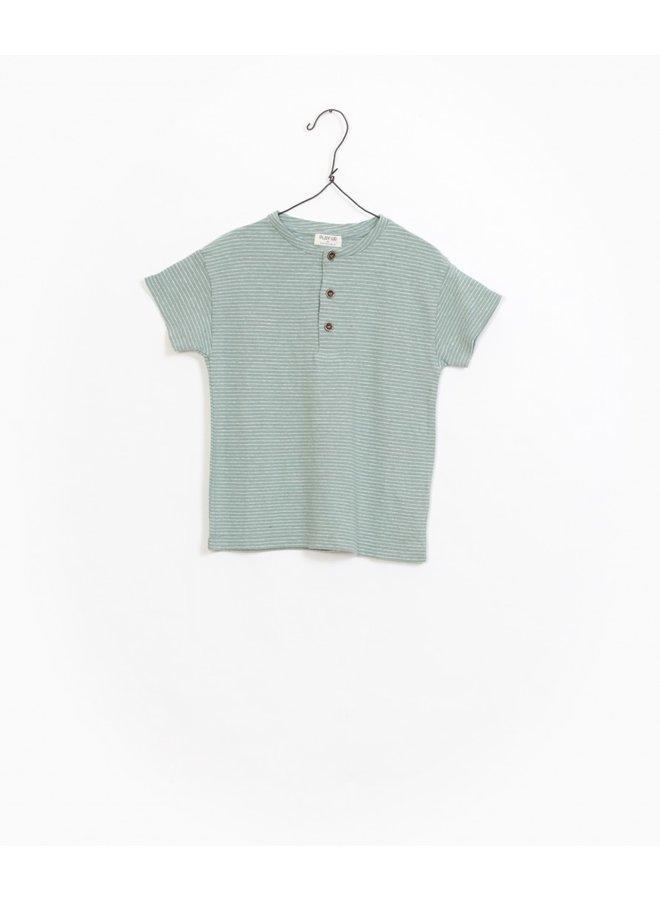 Play up t-shirt buttons groen streep
