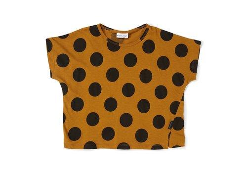 Daily Brat Daily brat t-shirt polka black dot sandstone