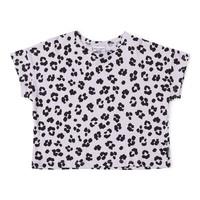 Daily brat t-shirt leopard dusty lilac