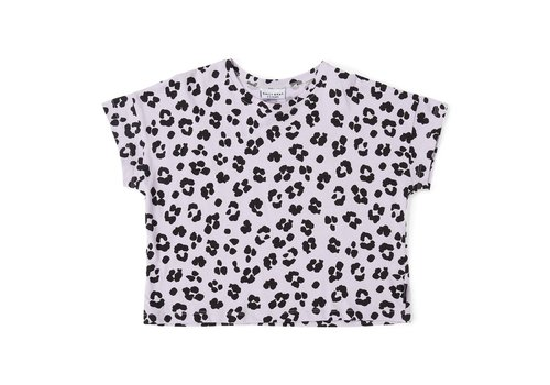 Daily Brat Daily brat t-shirt leopard dusty lilac