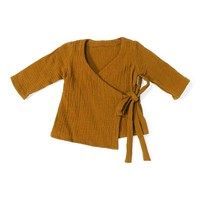 Daily brat wrap top sandstone