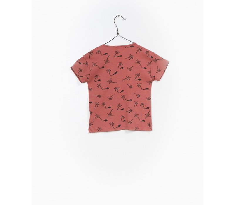Play up rib t-shirt print palmboom
