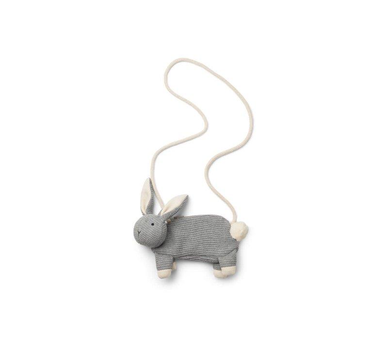 Liewood tasje grijs konijn
