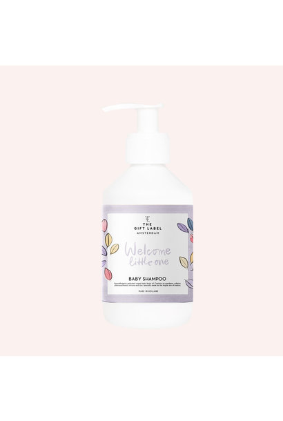 The gift label baby shampoo welcome little one