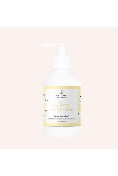 The gift label baby shampoo hi baby