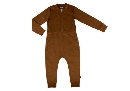 CarlijnQ CarlijnQ jumpsuit brown met rits