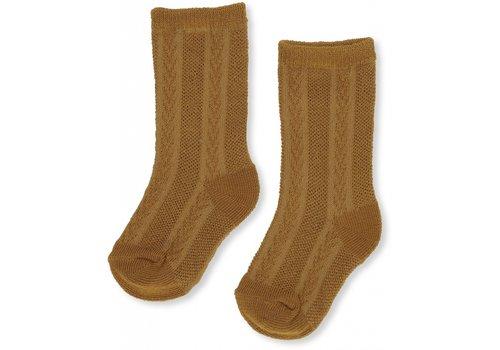 Konges slojd Konges slojd sokken fuma pointelle dark honey