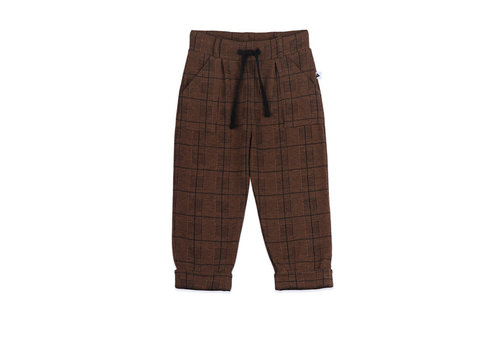 Ammehoela Ammehoela broek bennie brown check