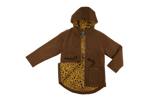 CarlijnQ CarlijnQ Parka corduroy with spotted animal