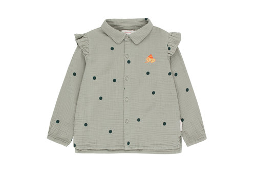 Tiny Cottons Tiny Cottons blouse dots luckyphant grey-navy