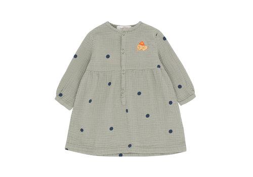 Tiny Cottons Tiny Cottons jurk dots luckyphant grey-navy