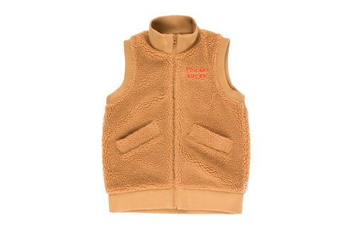 Tiny Cottons Tiny Cottons vest sherpa brown