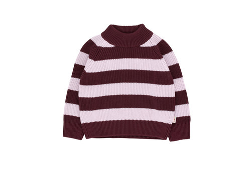Tiny Cottons Tiny Cottons knit sweater streep aubergine-lilac