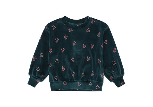 Soft gallery Soft gallery sweater elvira deep teal print winterberry
